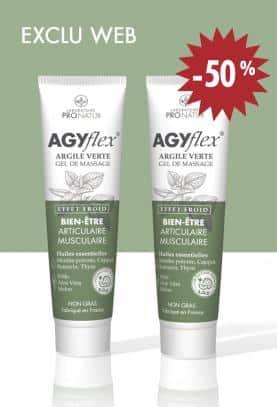 Lot de 2 AGYflex® ARGILE VERTE à -50%