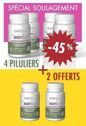 4 + 2 GRATUITS AGYflex® HARPAGOPHYTUM en PROMO