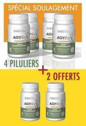 4 + 2 GRATUITS AGYflex® CURCUMA en PROMO