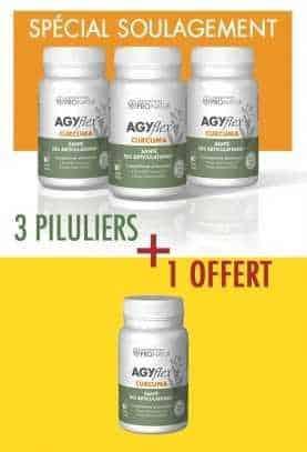 3 + 1 GRATUIT AGYflex® CURCUMA en PROMO