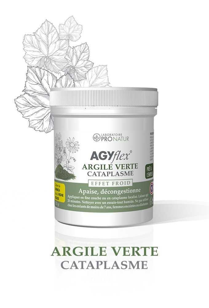 AGYflex® ARGILE VERTE - Cataplasme pour Muscles et Articulations
