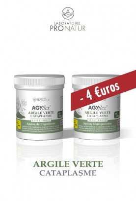 Lot de 2 AGYflex® ARGILE VERTE Cataplasme