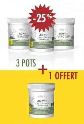 3 + 1 OFFERT AGYflex® ARGILE VERTE - Cataplasme pour Muscles et Articulations