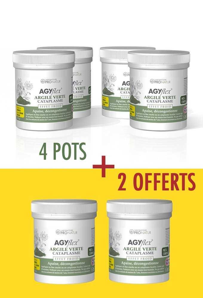 4 + 2 OFFERTS AGYflex® ARGILE VERTE Cataplasme