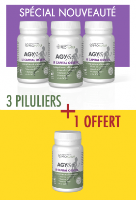 3 + 1 GRATUIT AGYflex® LE CAPITAL OSSEUX en PROMO