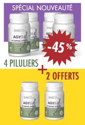 4 + 2 GRATUITS AGYflex® LE CAPITAL OSSEUX en PROMO