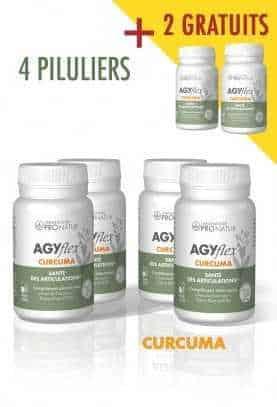 Lot de 4 + 2 GRATUITS AGYflex® CURCUMA