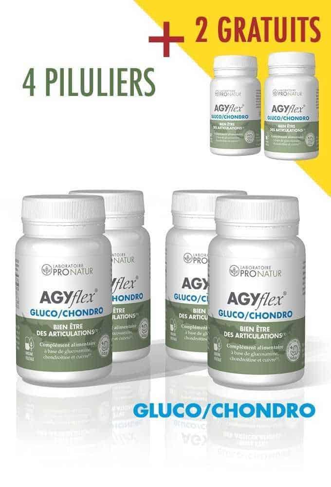 Lot de 4 + 2 GRATUITS AGYflex® GLUCO/CHONDRO