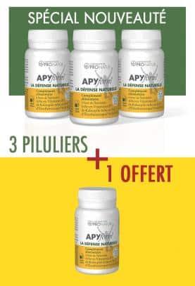 Lot de 3 + 1 GRATUIT APYform® LA DEFENSE NATURELLE en PROMO