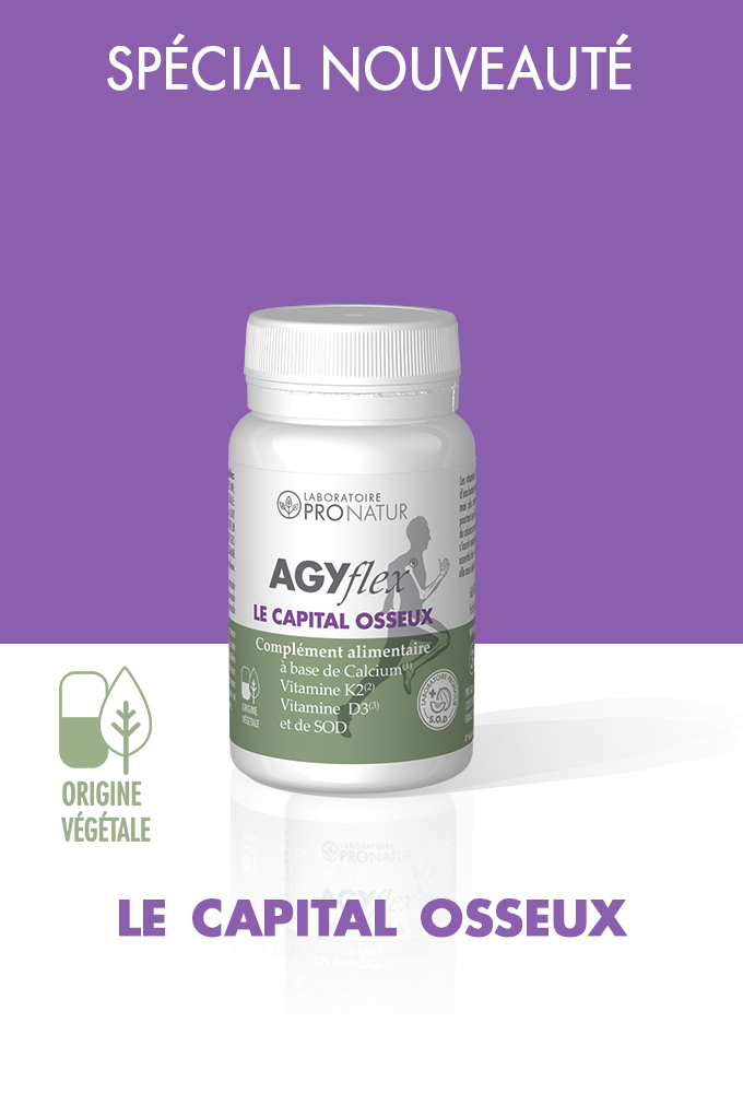 Lot de 3 + 1 GRATUIT AGYflex® LE CAPITAL OSSEUX en PROMO