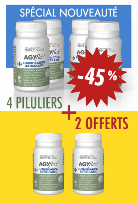4 + 2 OFFERTS AGYflex® LUBRIFICATION ARTICULAIRE en promo