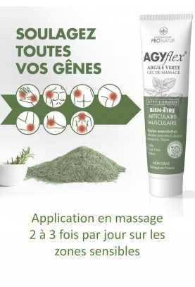 3 + 1 GRATUIT AGYflex® ARGILE VERTE - Gel Musculaire et Articulaire