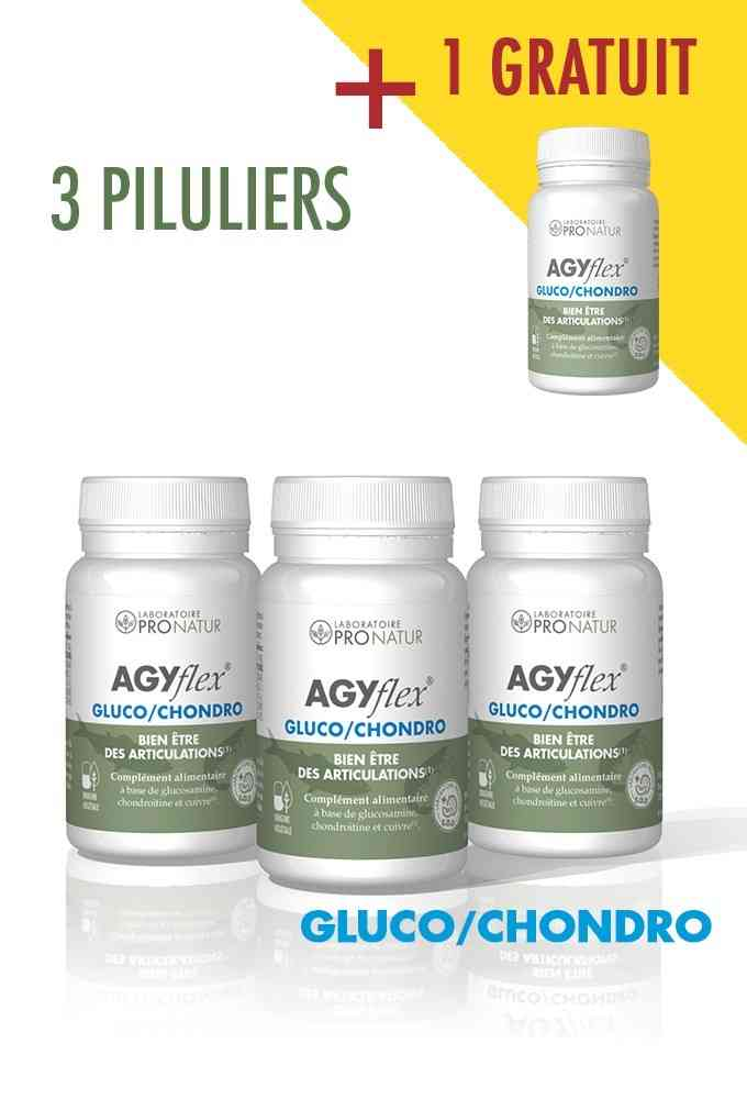 3 + 1 GRATUIT AGYflex® GLUCO/CHONDRO
