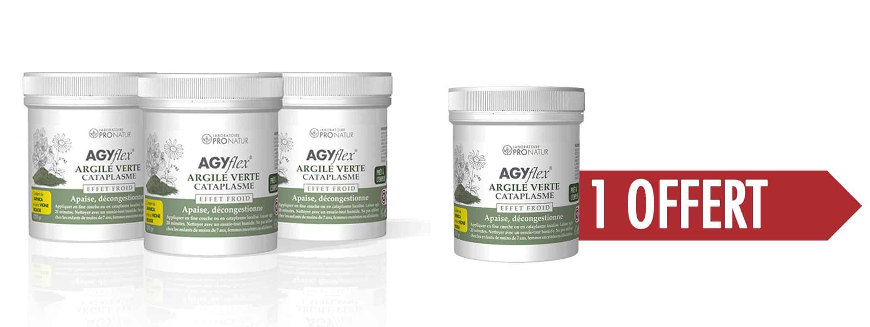 3+1 GRATUIT AGYflex®ARGILE VERTE CATAPLASME
