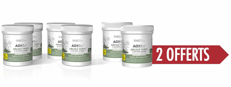 4+2 GRATUITS AGYflex®ARGILE VERTE CATAPLASME