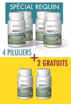4 + 2 GRATUITS AGYflex® CARTILAGE DE REQUIN