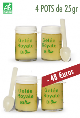 GELEE ROYALE BIO 4X25g